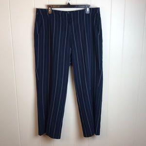 3/$27 Chadwick's Wide Leg Striped Career Pants